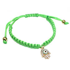 crystal rope bracelet images Handmade string braided red rope lucky bracelet green thread jpg
