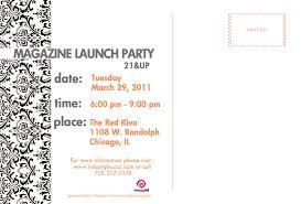 Launch Invitation Card Sample Magazine Launch Melissamagazine1