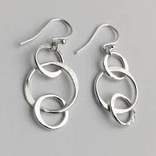 circle earrings handmade sterling silver earrings by lizardi jewelry