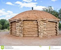hogan traditional dwelling of the navajo people stock photo