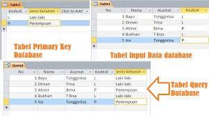 membuat query tabel cara membuat tabel query database microsoft access
