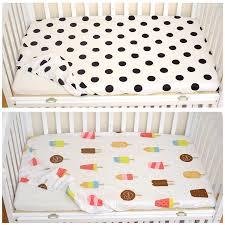 Crib Mattress Sheets Muslinlife Cotton Baby Fitted Sheet Crib Mattress