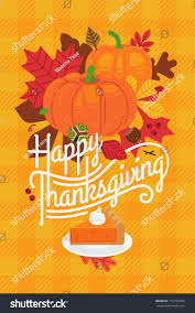 lovely happy thanksgiving poster greeting card stock vector