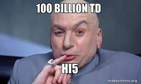 Hi5 Meme - 100 billion td hi5 you complete me make a meme