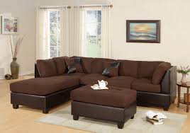 Sofa And Chaise Lounge Set by Bobkona Hungtinton Microfiber Faux Leather 3 Piece Sectional Sofa