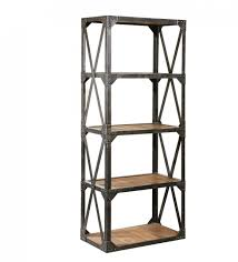 bookcase metal and wood bookcase modern industrial bookcase