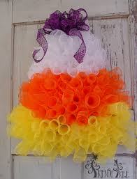halloween wreaths for sale candy corn wreath tutorial trendy tree blog holiday decor