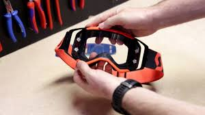 scott motocross goggles prospect goggle lens change tutorial en youtube