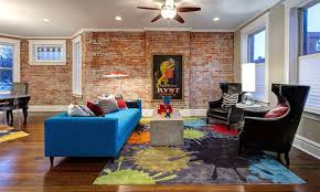 Exceptional Living Room Design Ideas With Brick Wall Accents - Urban living room design