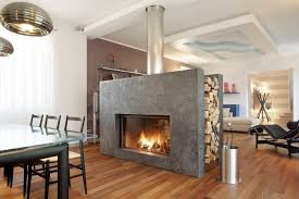 modern home design extraordinary luxurious double sided fireplace