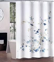 Shabby Chic Floral Curtains by Amazon Com Cynthia Rowley Shabby Chic Fabric Shower Curtain Aqua