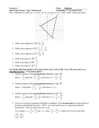 jiazhen u0027s geometry euler line day 1 algebra work sample and key
