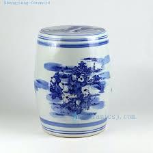 Ceramic Side Table Ceramic Side Table Blue White Ceramic Side Table Stools Ceramic