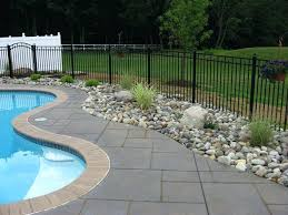Inground Pool Ideas Above Ground Pools With Decks Landscaping Around Inground Pool