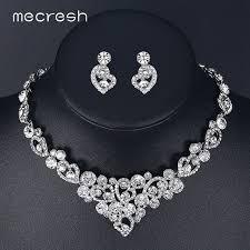 Excepcional Mecresh Coração de Cristal Conjuntos De Jóias de Noiva para  #VQ44