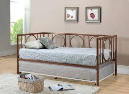 Daybed With Trundle And Mattress Included Daybed With Trundle Daybed Brown Bi Cast Vinyl White