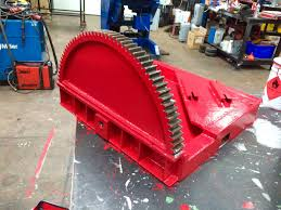 reconditioing process of a 1 5 tonne welding positioner