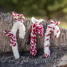 this moment is good loom knit candy cane ornaments loom