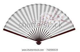 asian fan vector wooden fan stock vector 8880865