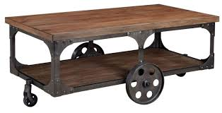 Industrial Coffee Table Diy Table Beautiful Dark Rectangle Classic Coffee Table On Casters