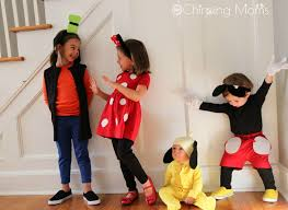 easy costumes easy diy mickey pals costumes the chirping