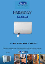 carrier split air conditioner service manual air conditioner
