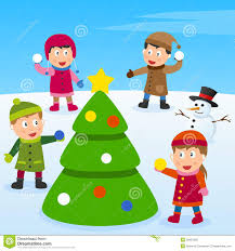 christmas tree and kids royalty free stock images image 26951929