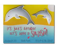 splashing dolphins child u0027s birthday party invitations handcrafted