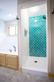 moroccan bathroom tile blue moroccan fish scale tile complimented