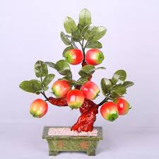 the 8 big apple tree jade jade pot ornaments crafts jewelry wedding