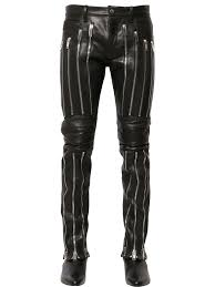 biker pants christian dada 17cm multi zip leather biker pants in black lyst