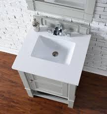 abstron 26 inch dove grey finish single sink bathroom vanity