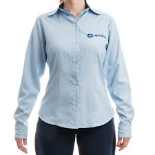 Basta Camisa Social Feminina Microlins Manga Longa: - Uniformes Microlins #MH31