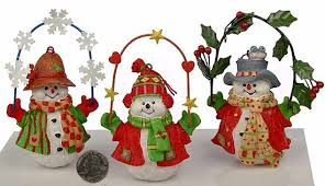 whimsical resin snowman ornament table decor and