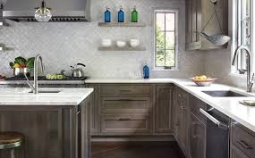gray brown stained kitchen cabinets 75 beautiful kitchen with brown cabinets and gray backsplash