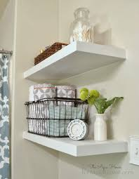 Shelves In Bathrooms Ideas Saving Spaces Small Bathroom Design Using Simple Diy White Wood