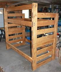 Free Bunk Bed Plans Twin by Beautiful Twin Bunk Bed Plans Wagon Wheel Spindles Design