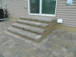 Back Porch Stairs Design Exterior Outdoor Floor Decoration With Paver Patio Step