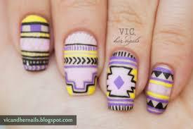 vic and her nails viccopycat neon tribal nail art by wondrously