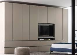 gola bedroom wardrobe with media unit novamobili wardrobes