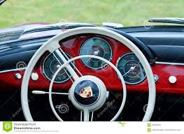 porsche steering wheel steering wheel u0026 dashboard of red vintage retro 1958 porsche 356