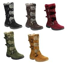 s boots buckle forever ic01 s studded buckle mid calf cold weather