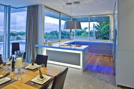 Blue Kitchens With White Cabinets Fetching Blue Paint Color Wooden Kitchen Cabinets With Brown Color