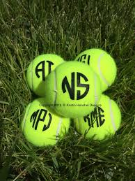 mongrammed personalized tennis balls set of 3