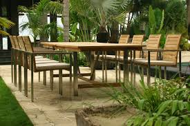 Teak And Stainless Steel Outdoor Furniture by Extending Teak And Stainless Steel Garden Furniture Set Riviera