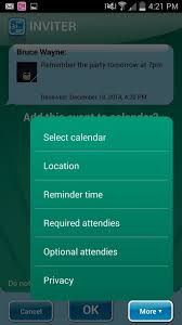 add reminder in android automatically create calendar events from incoming text messages