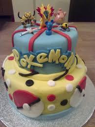 pokemon 2 tier birthday cake creative cakes by kaz