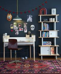 living spaces kids desk brooklyn desk vertical mini library by oeuf work spaces