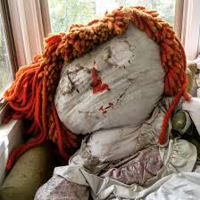 6ft raggedy ann doll in a chair on my grandma u0027s porch hasn u0027t been