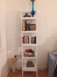 white leaning bookshelf crate and barrel london office